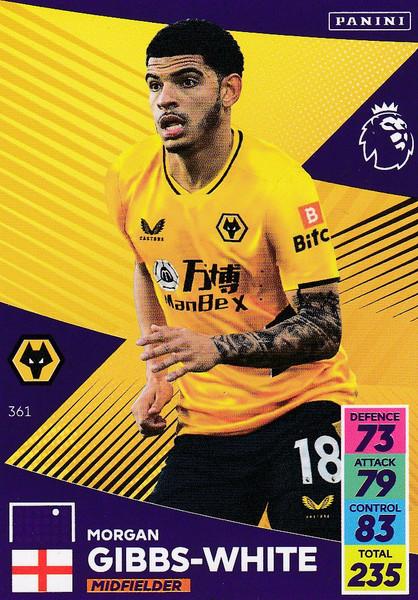 #361 Morgan Gibbs-White (Wolverhampton Wanderers) Adrenalyn XL Premier League 2021/22
