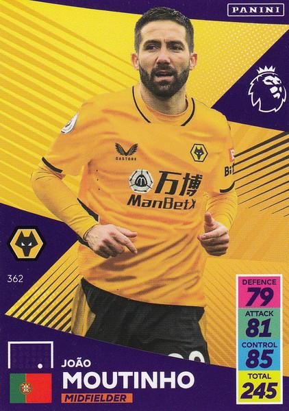 #362 João Moutinho (Wolverhampton Wanderers) Adrenalyn XL Premier League 2021/22