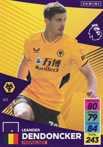#363 Leander Dendoncker (Wolverhampton Wanderers) Adrenalyn XL Premier League 2021/22