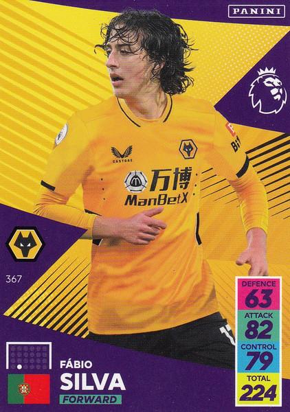 #367 Fábio Silva (Wolverhampton Wanderers) Adrenalyn XL Premier League 2021/22