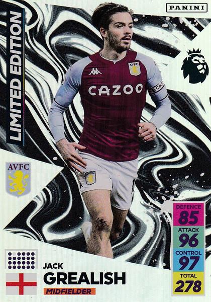 Jack Grealish (Aston Villa)  Adrenalyn XL Premier League 2021/22 LIMITED EDITION