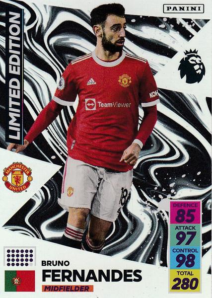 Fernandes (Manchester United) Adrenalyn XL Premier League 2021/22 LIMITED EDITION