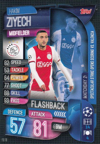 #FB16 Hakim Ziyech (AFC Ajax) Match Attax EXTRA 2019/20 FLASHBACK