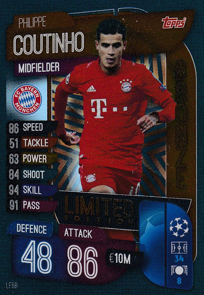 #LE5B Philippe Coutinho (FC Bayern Munchen) Match Attax EXTRA 2019/20 BRONZE