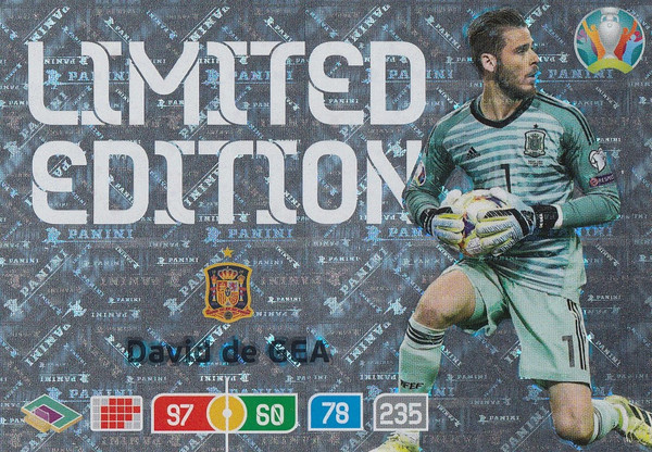 David De Gea (Spain) Adrenalyn XL Euro 2020 LIMITED EDITION