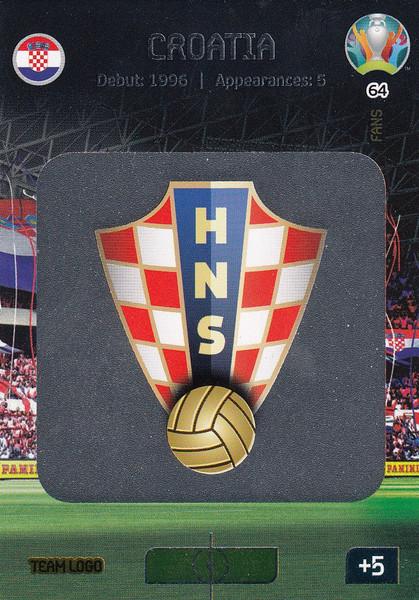 #64 Croatia Logo Adrenalyn XL Euro 2020