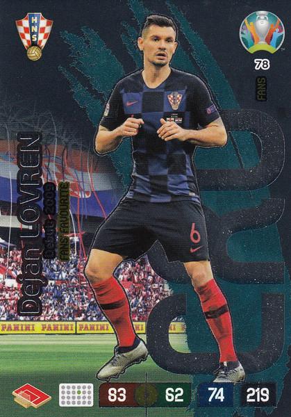 #78 Dejan Lovren (Croatia) Adrenalyn XL Euro 2020 FANS FAVOURITE