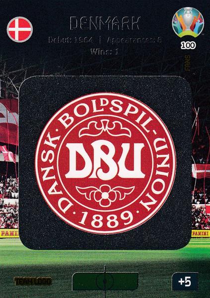 #100 Denmark Logo Adrenalyn XL Euro 2020