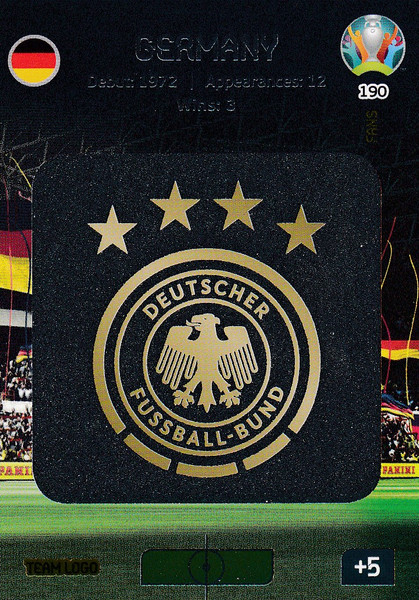 #190 Germany Logo Adrenalyn XL Euro 2020