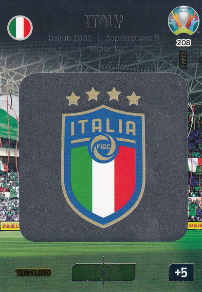 #208 Italy Logo Adrenalyn XL Euro 2020
