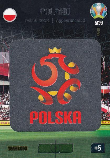 #244 Poland Logo Adrenalyn XL Euro 2020