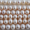 "16"" Strand Natural Freshwater Pearl Beads Round White 3 - 9mm Grade A"