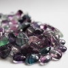 10 Natural Rainbow Fluorite Heart Beads 12 mm