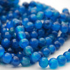 Aqua Blue Agate Semi-precious Gemstone Round Beads 4mm, 6mm, 8mm, 10mm