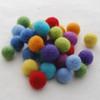 100% Wool Felt Balls - 30 Count - 1.5cm - Rainbow Colours