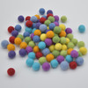 100% Wool Felt Balls - 100 Count - 1.5cm - Rainbow Colours