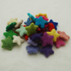 100% Wool Felt Stars - 30 Count - approx 3.5cm - Assorted Light & Bright Colours