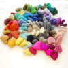 100% Wool Felt Hearts - 90 Count  - approx 3cm - Assorted Colours