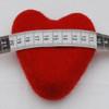 100% Wool Felt Heart - 10cm - Red