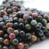 """High Quality Grade A Indian Agate (Fancy Jasper) Faceted Semi-Precious Gemstone Round Beads - 6mm, 8mm, 10mm sizes - 15"""" long"""