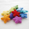 100% Wool Felt Stars - 10 Count - approx 3.5cm - Rainbow Colours