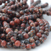 High Quality Grade A Natural Leopard Skin Jasper Semi-precious Gemstone Round Beads 4mm, 6mm, 8mm, 10mm