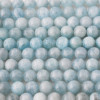 High Quality Grade A Natural Aquamarine Semi-precious Gemstone Round Beads 4mm, 6mm, 8mm, 10mm