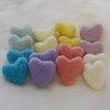 100% Wool Felt Hearts - 16 Count - approx 3cm - Assorted Pastel Easter Colours