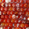 High Quality Grade A Natural Fire Agate Semi-precious Gemstone Round Beads 4mm, 6mm, 8mm, 10mm