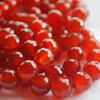 "High Quality Grade A Red Agate Faceted Semi-Precious Gemstone Round Beads - 4mm, 6mm, 8mm, 10mm sizes - 15"" long"