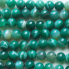 High Quality Green Banded Agate Striped Semi-precious Gemstone Round Beads 4mm, 6mm, 8mm, 10mm
