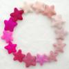 100% Wool Felt Stars - 14 Felt Stars - approx 3cm - Assorted Pink Colours