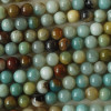 High Quality Grade A Natural Multi-colour Amazonite Semi-precious Gemstone Round Beads 4mm, 6mm, 8mm, 10mm