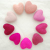100% Wool Felt Heart - 6cm - Pink Colours - 9 hearts