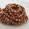 High Quality Grade A Red Crazy Lace Agate Gemstone Round Beads 4mm, 6mm, 8mm, 10mm sizes