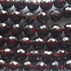"""High Quality Grade A Natural Garnet Faceted Semi-Precious Gemstone Round Beads 6mm, 8mm, 10mm sizes - 15"""" long"""