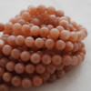 High Quality Grade A Natural Peach Moonstone Gemstone Round Beads 4mm, 6mm, 8mm, 10mm sizes