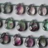 10 High Quality Natural Rainbow Fluorite Semi-precious Gemstone Faceted Teardrop Beads / Pendant 12mm 14mm 18mm