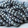 "15"" Strand Natural Freshwater Pearl Beads Round / Potato Rainbow Silver 5 - 9mm Grade B"