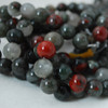 High Quality Grade A Natural African Blood Jasper Gemstone Round Beads 4mm, 6mm, 8mm, 10mm sizes