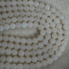 High Quality Grade A Natural White Agate Matte Gemstone Round Beads 4mm, 6mm, 8mm, 10mm sizes
