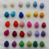 100% Wool Felt Raindrops / Teardrops / Eggs - 30 Count - Light & Bright Colours
