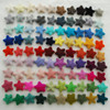 100% Wool Felt Stars - 100 Count - approx 3.5cm - Pick and Mix from 90 colours
