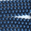 High Quality Grade A Natural Black Agate Frosted / Matte Faceted Semi-precious Gemstone Beads 4mm, 6mm, 8mm, 10mm sizes