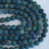 High Quality Grade A Natural Green Moss Agate Frosted / Matte Semi-precious Gemstone Round Beads 4mm, 6mm, 8mm, 10mm sizes