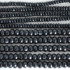High Quality Grade A Natural Black Agate Semi-Precious Gemstone Faceted Rondelle / Spacer Beads - 4mm, 6mm, 8mm, 10mm sizes