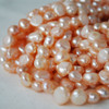 "16"" Strand Natural Freshwater Pearl Beads Nuggets Pink 7 - 9mm Grade A"