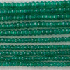 High Quality Grade A Green Agate Semi-Precious Gemstone Faceted Rondelle / Spacer Beads - 3mm, 4mm sizes
