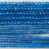 High Quality Grade A Blue Agate Semi-Precious Gemstone Faceted Rondelle / Spacer Beads - 3mm, 4mm sizes