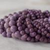 High Quality Grade A Natural Phosphosiderite (purple) Semi-precious Gemstone Round Beads - 4mm, 6mm, 8mm, 10mm sizes
